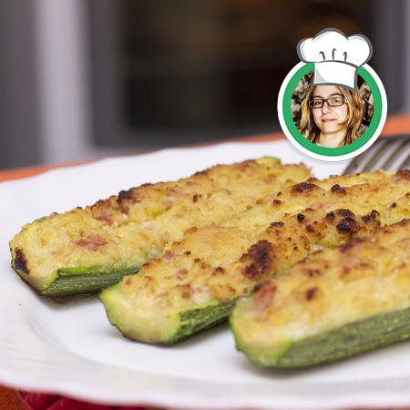 Zucchine bianche, ripiene, ricetta di Francesca da Leverone