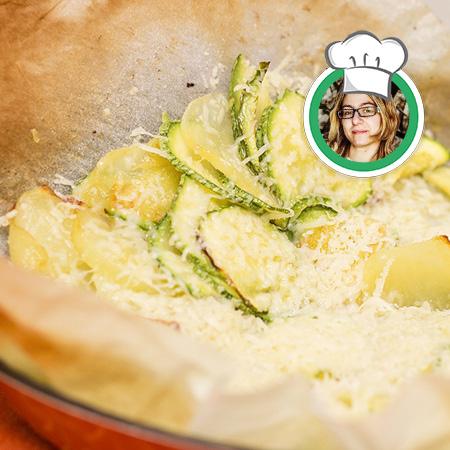 Chips di patate e zucchine, al forno, ricetta di Francesca da Leverone