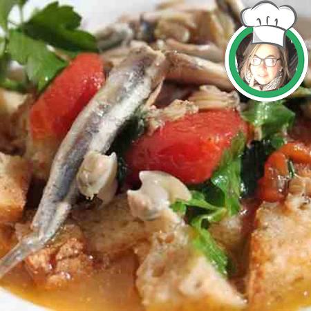 Zuppa di acciughe e pomodori , ricetta di Mariuccia di Imperia