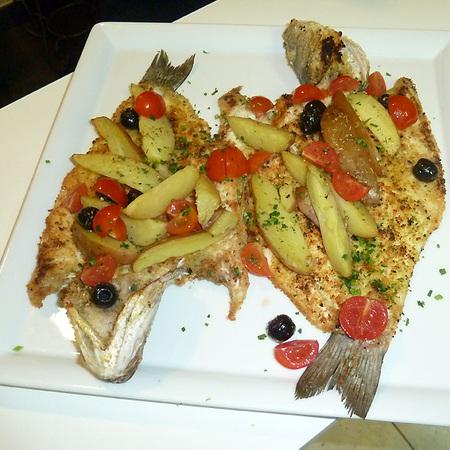 Branzino al forno, alla ligure, ricetta di Silvana da Diano Marina